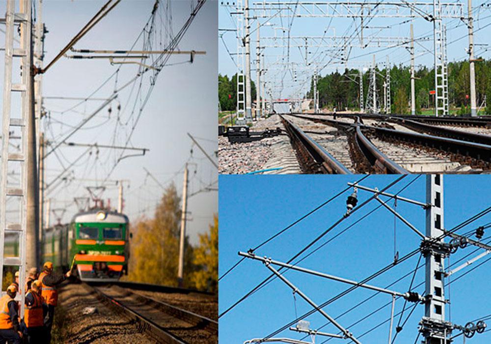 Металлические опоры контактной сети железных дорог