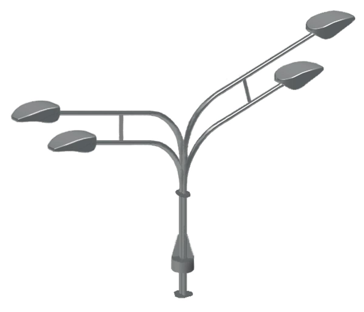 Кронштейн четырехрожковый, разнонаправленный для трубчатых силовых опор ОСТ